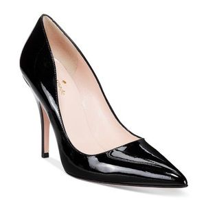 Kate Spade Patent Licorice Pointed Toe Pumps EU